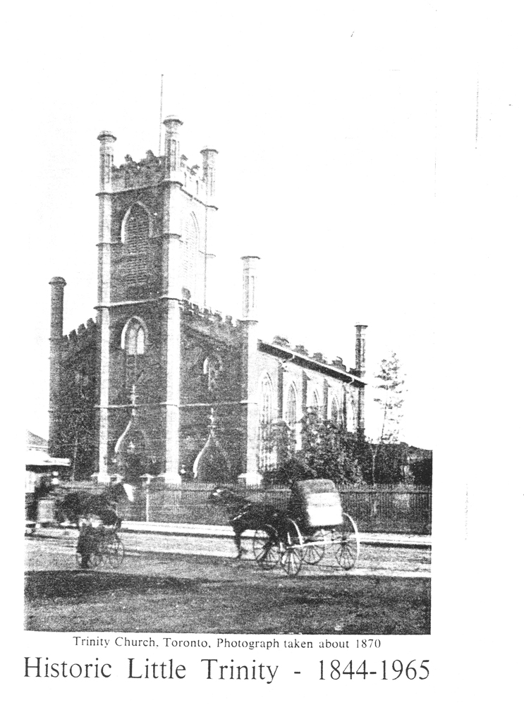 1844 <strong> The First Babies Christened in Little Trinity Church</strong>